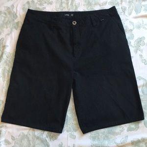 Hurley black flat front shorts. Men's 36.